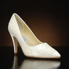 DIANE HASSALL ORVIETTO Wedding Shoes and ORVIETTO Dyeable Bridal Shoes IVORY