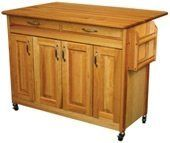 Catskill Craftsmen Butcher Block Island with Raised Panel Doors and Drop Leaf for Cats by Catskill Craftsmen, http://www.amazon.com/dp/B008HZS6EM/ref=cm_sw_r_pi_dp_aB2oqb03FKED3