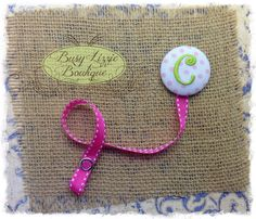 Monogrammed Pacifier Clip Toy Clip by busylizzieboutique on Etsy, $7.95