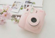 Pastel pink polaroid