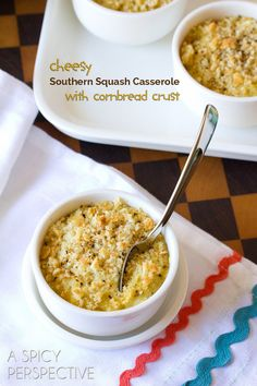 Southern Squash Casserole with Cornbread Crust #thanksgiving #southern #fall
