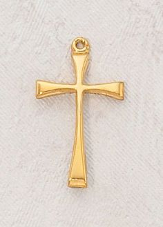 """22kt. Gold over Sterling Silver, Gold Maltese Cross Medal with 18"""" Chain, 7/8"""" H, Small, Perfect for Girls Or Boys CR001 http://www.amazon.com/dp/B0074Q35HS/ref=cm_sw_r_pi_dp_-cSewb1KT8ZX1"""
