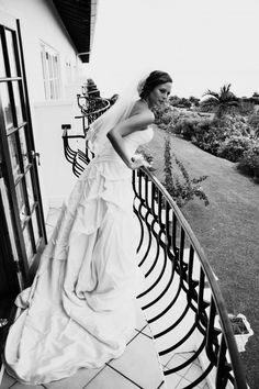 On the balcony waiting for her Romeo :) I NEED a picture like this!