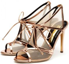 Rupert Sanderson Harting Sandals in Candy Mirror