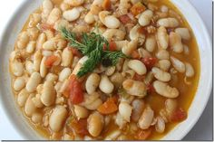 Chunky White Bean Soup - looks good to me minus the tomatoes and green peppers
