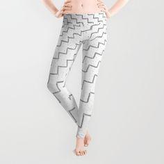 speckled zigzag Leggings #leggings #style #fashion #sporty #white #blackandwhite #whiteandblack