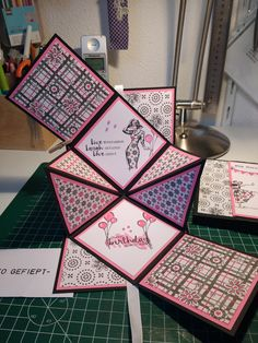 Best 12 Origami Story Card: I saw an example of this card here (ht… Die Cut Cards, Pop Up Cards, Step Cards, Diy Cards, Fancy Fold Cards, Folded Cards, Shaped Cards, Card Tutorials, Bookbinding