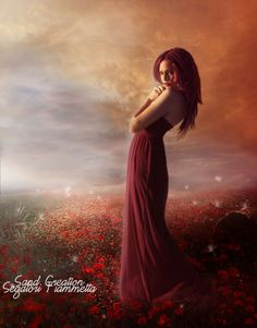 Red Passion      Model  Beautifull Jessy  elaine12_by_faestock-d5vgpq7  Sky1  waves_of_color_by_thy_darkest_hour-d4dz5ym  Sky2  sunset_in_almaden_by_austriaangloalliance-d5jt8yg  Field1  poppy_field_ii_stock_by_koko_stock-d5vp517  Field2  premade_1_by_vam_pyre-d56yhf8    The rest 'was created with photoshop cs5   and Wacom Bamboo  My Facebook Page  www.facebook.com/SandCreationGraphicArtist?ref=hl