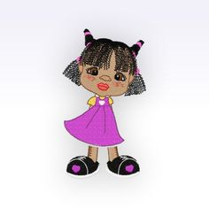 Little Girl - Machine Embroidery Design - Little Lady 1 by CeciliasEmbroidery on Etsy https://www.etsy.com/listing/170658545/little-girl-machine-embroidery-design