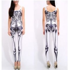 dd92adbf9b5e Striking Skull Fitted Jumpsuit