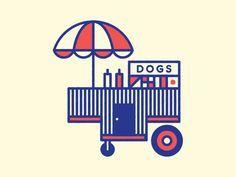 hot dog cart drawing - Google Search