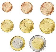Anno: 2011 - oggi. Nazione: Estonia. Autore: Lembit Lõhmus. Descrizione 1, 2, 5, 10, 20, 50 cent, 1 e 2 euro: su tutte le monete è rappresentata la mappa dell'Estonia. Nella parte superiore della m...