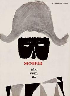 Revista Senhor, de 1962, capa de Glauco Rodrigues