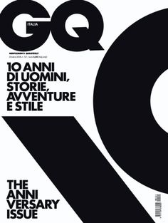 GQ Italia 10th Anniversary issue: by Experimental Jetset