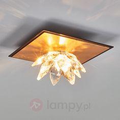 Lampa sufitowa Fiore pokryta złotem i kryształami 5505542