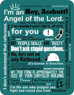 Castiel!! I love this! All the different types of saying that you remember from the show!!