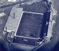 """Aerial view of a heaving Hillsborough Stadium Sheffield Wednesday Football, Everton Fc, Football Stadiums, Our World, Aerial View, Terrace, Owls, English, Owl"