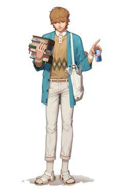 담아간 이미지 Boy Character, Game Character Design, Character Costumes, Character Design Inspiration, Character Concept, Concept Art, Game Concept, Cute Anime Guys, Cute Guys