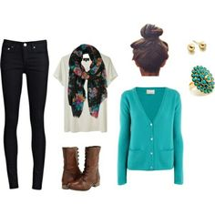 Combats boots outfit