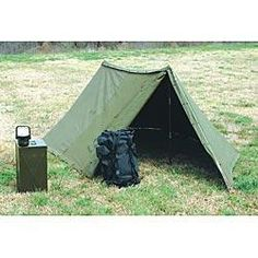 How to Put Up a U.S. Military Surplus Pup Tent