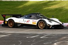 This is the Pagani Zonda R Evo, the latest incarnation of a car that people thought was replaced by the Huayra. Description from autoevolution.com. I searched for this on bing.com/images