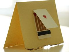 Less-Than-Perfect Life of Bliss: Matchbook Valentine Card