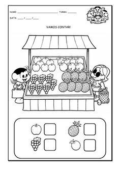 Feira Preschool Curriculum, Kindergarten Worksheets, Teaching Math, Learning Activities, Preschool Activities, Kids Learning, Nursery Worksheets, English Activities, Math For Kids