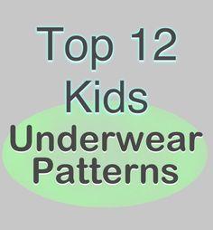 Top 12 Kids Underwear Sewing Patterns, + a list of free underwear patterns! Includes lots of tween sizes.
