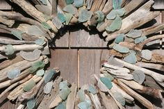 Driftwood and Sea Glass Wreaths