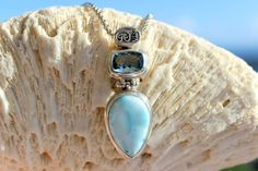 Larimar is so beautiful. Perfect reminder of your vacation! #saintjohn #pendant #larimar #travel #jewelry