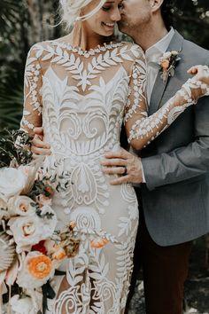 "Real Wedding Celbi + Gabe Dress: Rue De Seine ""Avril"" Photographer: Brooke Taelor"