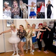 """Group costume for Halloween! Various Taylor Swifts from the """"Shake it Off"""" music video. #groupcostume #Halloween"""