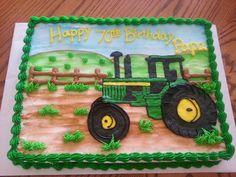 New Birthday Cake Man John Deere Ideas Tractor Birthday Cakes, Birthday Sheet Cakes, New Birthday Cake, Adult Birthday Cakes, Tractor Cakes, Boy Birthday, Happy Birthday, Cupcakes, Cupcake Cakes