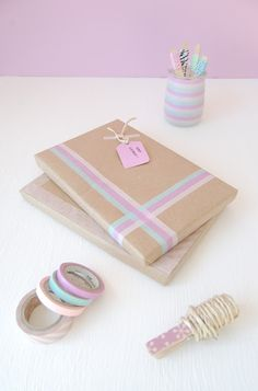 Dekortapasz Dekorella Shop  http://dekorellashop.hu/  Washi Tape Gift Wrapping / Envolturas                                                                                                                                                      Más