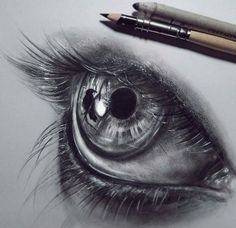 Eye drawing by Federica Taddei http://webneel.com/40-beautiful-and-realistic-pencil-drawings-human-eyes | Design Inspiration http://webneel.com | Follow us www.pinterest.com/webneel