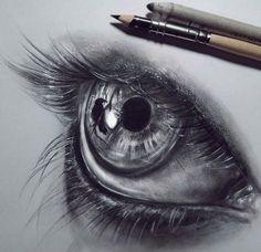 Eye drawing by Federica Taddei http://webneel.com/40-beautiful-and-realistic-pencil-drawings-human-eyes | Design Inspiration http://webneel.com | Follow us www.pinterest.com/webneel