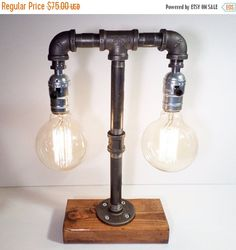 Urban Industrial Craft  Unique Hand Made Quality Edison Lamps  Great way to add a unique charm to your home!  Urban Edison products are