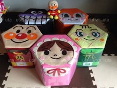 アンパンマンと仲間たち牛乳パックいす Felt Crafts, Diy And Crafts, Crafts For Kids, Baby Hands, Play To Learn, Diy Toys, Diy Paper, Kids And Parenting, Art For Kids