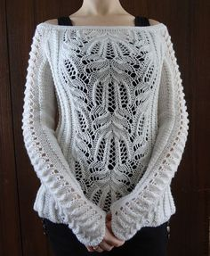 This Pin was discovered by Фил Baby Knitting Patterns, Lace Knitting, Knitting Designs, Mode Crochet, Knit Crochet, Knit Fashion, Cable Knit Sweaters, Beautiful Crochet, Crochet Clothes