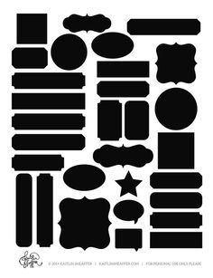 free labels cut file - blank template to help out with the trace feature in Silhouette Studio (many free labels to match here: www. Silhouette Cutter, Silhouette Machine, Silhouette Files, Silhouette Studio, Silhouette Images, Silhouette Portrait, Silhouette Design, Printable Labels, Printables