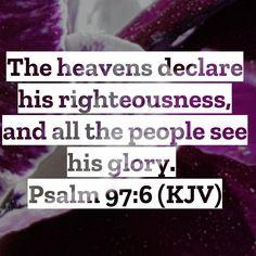 Psalm 97, Holy Spirit, Bible Verses, Heaven, Christian, God, Holy Ghost, Dios, Sky