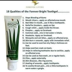 Forever Living has the highest quality aloe vera products and is recognized as the world's leading multi-level marketing opportunity (FBO) for forty years! Forever Aloe, Aloe Vera Gel Forever, Forever Living Aloe Vera, Forever Bright Toothgel, Tooth Caries, What Causes Tooth Decay, Forever Living Business, How To Prevent Cavities, Forever Living Products