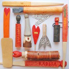 Täljda föremål av Ann Hammarberg