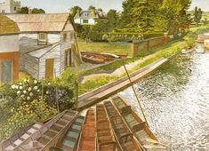 Stanley Spencer Gallery, Cookham  (View from Cookham Bridge, 1936)