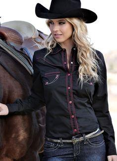 CRUEL GIRL RODEO Western Barrel ARENA Performance BLACK SHIRT COWGIRL NWT LARGE #CruelGirl #Western
