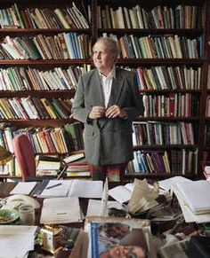 Alexander McCall Smith----  I love his books! Now I know why I love books and bookshelf, (he reminds me of Pupa). AK