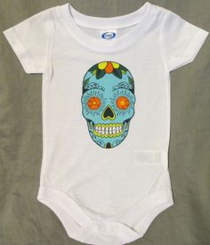 Sugar Skull Onesie by CardinalXPress on Etsy #skull #sugarskull