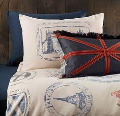 Bedding for Travel Themed Room
