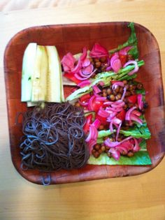 "I made my ""infamous"" Romaine ""tacos"" with lettuce, beans, rice, tomatoes and marinated onions. Sliced up some cucumbers and, soba! Simple, yes? - See more at: http://www.bodaciousliving.com/forum/recipes/348-another-soba-meal.html#1106  #seniorhealth #seniorfitness #seniornutrition #health #fitness #weightmanagement #Revvell #vegan #vegetarian #diseasefree"