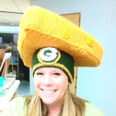 Green Bay Packers Cheese Head Hat!!!